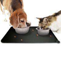 Dog Pet Feeding Cat Bowl Mat Food Dish Tray  Placemat Non Slip Mat Silicon New