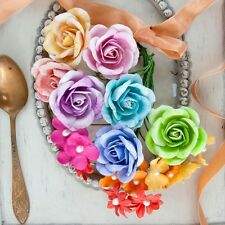"""NEW Prima """"NIKKO-NICHIO"""" Colorful Roses and Flowers with Pearl Centers 582067"""