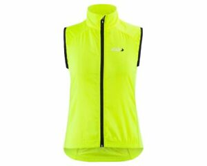 New Louis Garneau Nova 2 Womens Cycling Vest Bright Yellow Size Lrg Yllw/Blk