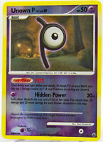 Unown P 33/100 Reverse Holo Rare Majestic Dawn Pokemon Cards NM+ With Tracking