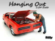 """""""HANGING OUT"""" BILLY FIGURE FOR 1:24 SCALE MODELS AMERICAN DIORAMA 23958"""