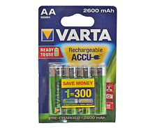 VARTA AA NiMH High Performance Rechargeable Batteries 2600mAh - 4 in Pack