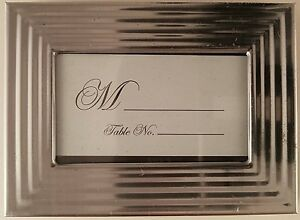 """Banquet Table Markers Photo Frames 2"""" x 3"""" Silver Black, Select Type"""