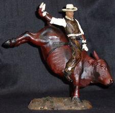 """BULL RIDER   Statue Western Cowboy  H8"""""""