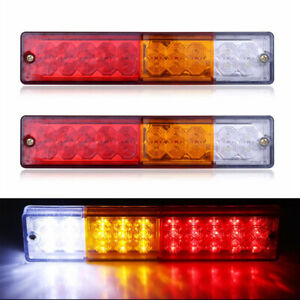 2x 12V 20LED Car Truck Tail Indicator Light Turn Signal Reverse Brake Rear Lamp