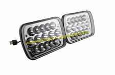 """2X 7X6"""" WHITE LED HEADLIGHT CRYSTAL CLEAR SEALED BEAM SQUARE HEADLAMP FOR TOYOTA"""
