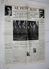 FAC-SIMILE A LA UNE JOURNAL LE PETIT BLEU 01/02 1933 HITLER CHANCELIER REICH