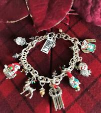 Brighton HOLIDAY Christmas Lane Charm Bracelet NWT Comes with Brighton Pouch