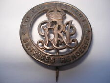 CWW1 VINTAGE SERVICES RENDERED SILVER WOUND PIN BADGE No B128770