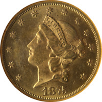 1875-CC Liberty Gold $20 NGC MS62 Great Eye Appeal Fantastic Luster Nice Strike