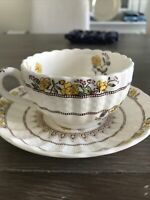 Vintage Copeland Spode England Buttercup pattern cup and saucer Porcelain China