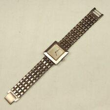 Vintage Golana 70er Karo Armbanduhr 925 Silber Handaufzug mit 925er Armband
