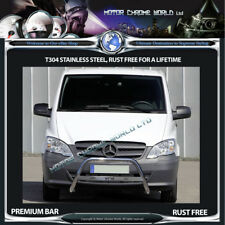 MERCEDES VITO / VIANO W639B CHROME NUDGE A-BAR STAINLESS STEEL 2010-2014 (NXL1)