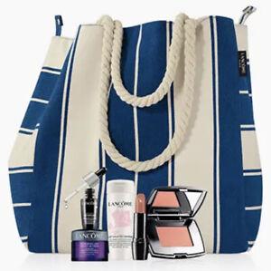 Lancome Nordstrom 6 PcTRAVEL Skin Care & Makeup Set ,Lancome Tote