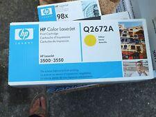 Genuine HP 309A Print Cartridge  Q2672A  Yellow Toner  Laserjet 3500,3550  New!
