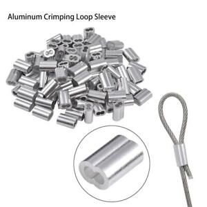 1mm-12mm Aluminum Cable Crimp Sleeves Clip Ferrule For Steel Wire Rope Cable UK