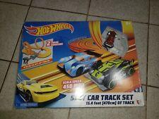 Hot Wheels Slot Car Track Set 15.4 ft~1 Vehicle Loops Complete Works #83104