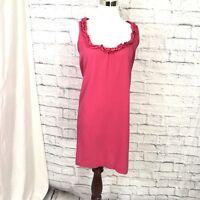 J. Crew XS Dress Pink Ruffle Cotton Sundress Tunic Boho #K425