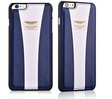 """Aston Martin Racing iPhone 6 Plus / 6s Plus 5.5"""" Leather Back Cover Case (N+W)"""
