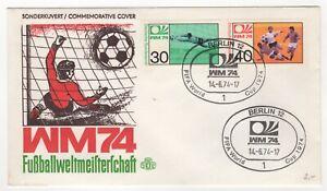 1974 Jun 14th. Commemorative Cover. Football World Cup.