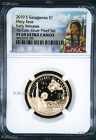 2019 S Proof Native American Mary Ross NGC PF69 Dollar from 10-coin-silver-set