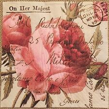 2 single paper napkins Decoupage Craft Collection Serviette Shabby Roses Flowers