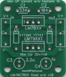 LM78XX LM79XX Dual SPLIT Voltage down converter DC-DC  Supply PCB DIY