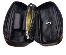 Porta pipe in pelle nera custodia tabacco per pipa con portatabacco tascabile