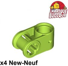 Lego technic - 4x Axe Axle connector perpendicular vert citron/lime 6536 NEUF