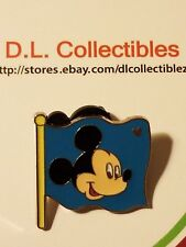Disney Mickey Mouse Hidden Mickey Face Blue Flag Mickey Mouse Pin