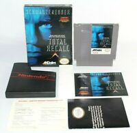 Total Recall NES Nintendo Complete CIB Authentic NICE w/ Poster & Registration!