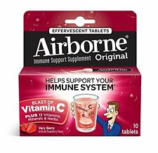 5 Pack - Airborne Effervescent Health Formula Tablets, Very Berry, 10 Each