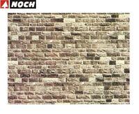 """NOCH H0/TT 57720 Mauerplatte """"Basalt"""" 64 x 15 cm (1 m² - 35,32 €) - NEU + OVP"""