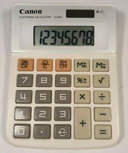 Vintage Canon Solar Powered Calculator LS-80H Retro 80s