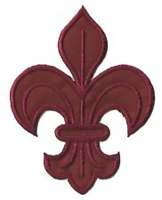 Patch écusson patche fleur de lys bordeaux brodé thermocollant