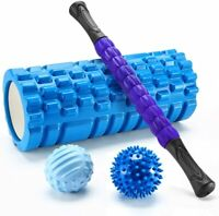 Finether-Rodillo de Espuma para Masaje Muscular Foam Roller Kit de Masajeador