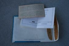 NOS 1969/1970 BOSS 429 Mustang Fender Stickers, Original C9ZZ - 16228- D  Black