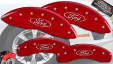 "1998-2002 ""Ford"" Ranger EV Front + Rear Red MGP Brake Disc Caliper Covers 4pc"