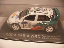 Voiture IXO ALTAYA 1/43 SKODA FABIA WRC RALLY Tour de Corse 2003 D.Auriol NEUF