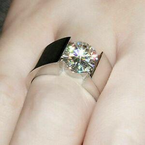 2.00Ct Round Cut Diamond Men's Solitaire Engagement Ring 14k White Gold GP 925