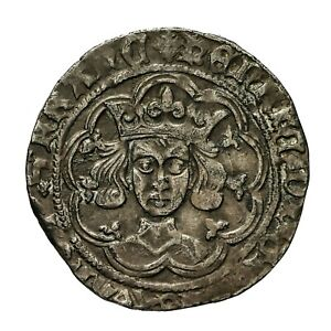 Henry vi hammered silver Pinecone Mascle issue Groat  Calais mint  S1875