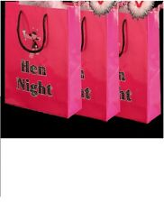 8 Hen Night Hot Pink Party Goodie Bags for Accessories Gifts & Party Packs