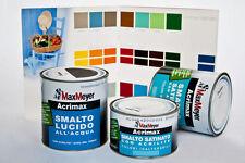 """Smalto satinato ad acqua """"Acrimax"""" 0,750 ml. Max Meyer color bianco satinato"""