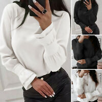 ZANZEA 10-24 Women Long Sleeve Pullover Top Tee Shirt Office Work Ladies Blouse