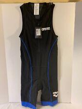 Arena Powerskin Man Tri Suit St 2.0 Front Zip for Triathlon Black / blue -Size L
