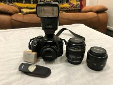Canon EOS 600D 18.0MP Digital SLR Camera with 2 Lenses, Mount Flash Other Extras