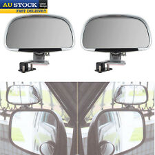 2x Car Vehicle Side Blindspot Blind Spot Mirror Wide Angle View Silver AU Stock