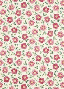 Emma Bridgewater Hellebore China Rose Pink Fabric L: 90cm x W: 140cm 100% Cotton