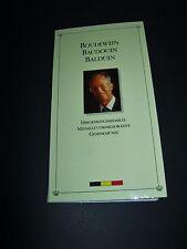 "Belgien  Medaille  1993  ""Baudouin""  Proof  925'er Silber !!  im Folder"