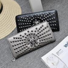 Faux Leather Clutch Wallets for Women with Phone Holder